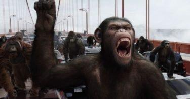 Curiosidades, Entretenimento, Jornalismo, Comunicação, Marketing, Publicidade e Propaganda, Mídia Interessante planeta-dos-macacos-revolucão-1-375x195 Planeta dos Macacos - A revolução foi na Terra Lembranças Televisão  Planeta dos Macacos 2017 cezar